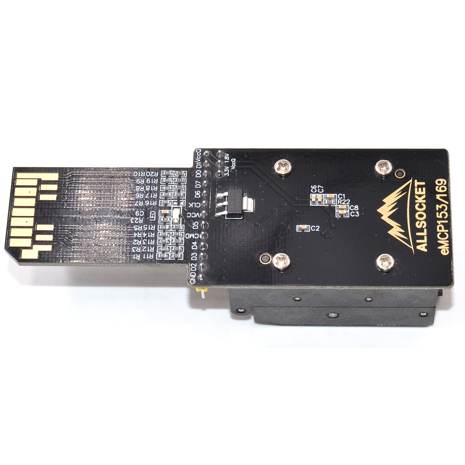 eMMC-BGA/eMMC169 BGA/eMMC153 Socket eMMC169 eMMC153 reader Socket DS3000-SD-emmc153+emmc169 Socket High quality IC eMMC153/169 reader for eMMC/BGA/eMMC169 BGA/eMMC153 package 10