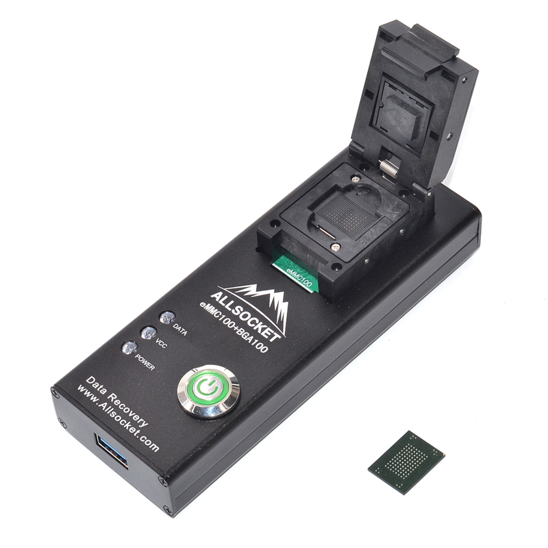 eMMC-BGA/eMMC100 BGA/eMMC100 Socket eMMC100 reader Socket DS3000-USB3.0-emmc100 Socket High quality IC eMMC100 reader for eMMC/BGA/eMMC100 BGA/eMMC100 package 9